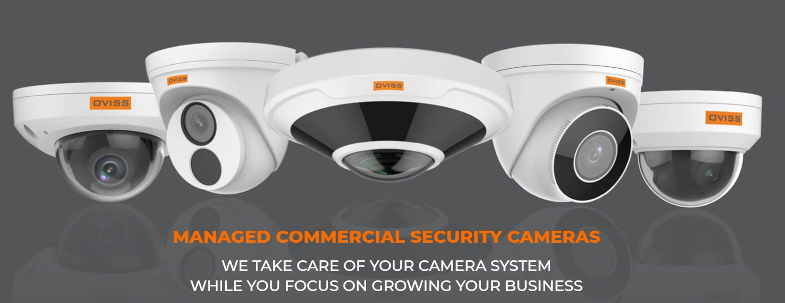 Managed commercial security cameras system